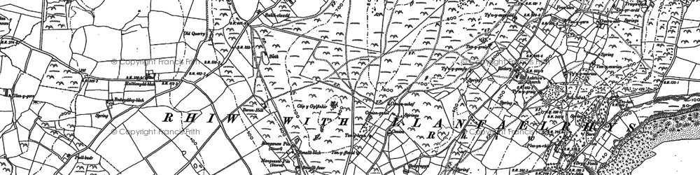 Old map of Rhiw in 1888