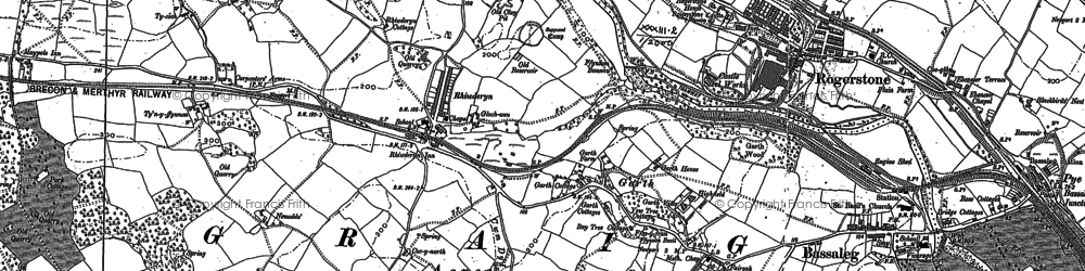 Old map of Garth in 1899