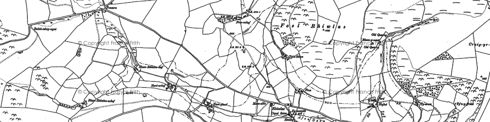 Old map of Ysgwennant in 1910