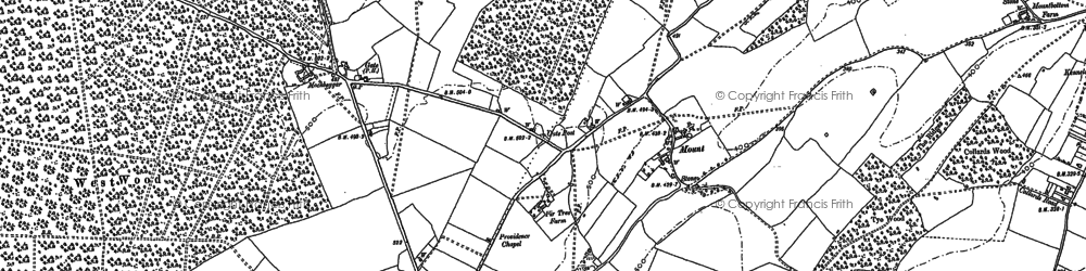 Old map of Woodland in 1896
