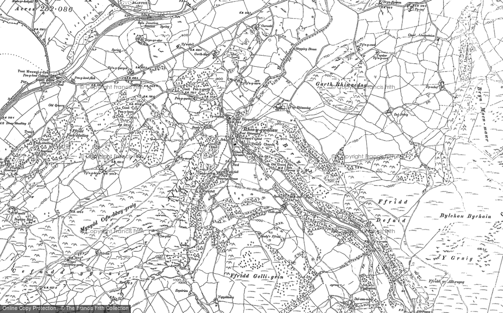 Old Map of Historic Map covering Alltrugog in 1886