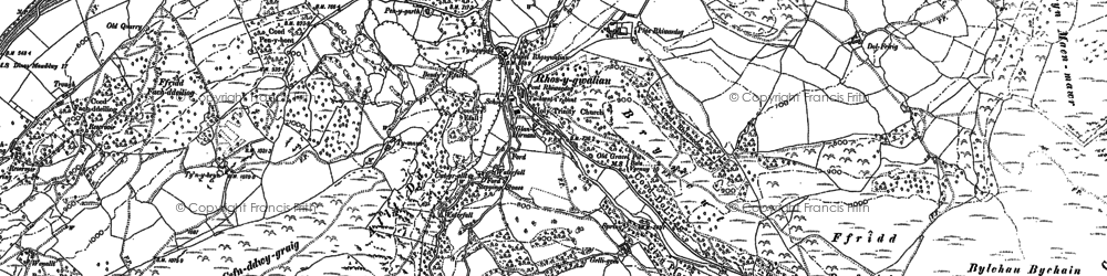 Old map of Afon Cymerig in 1886