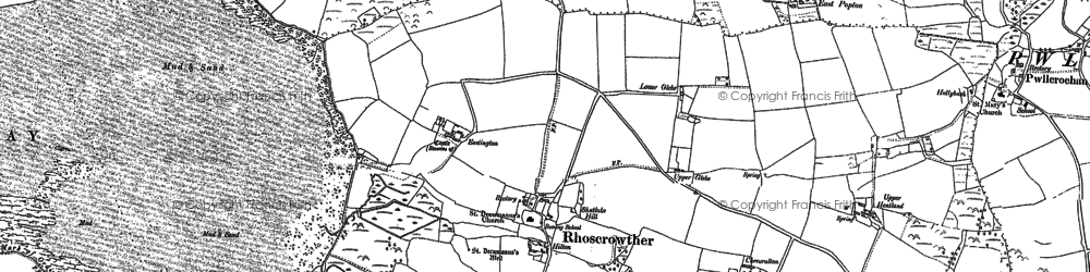 Old map of Angle Bay in 1937