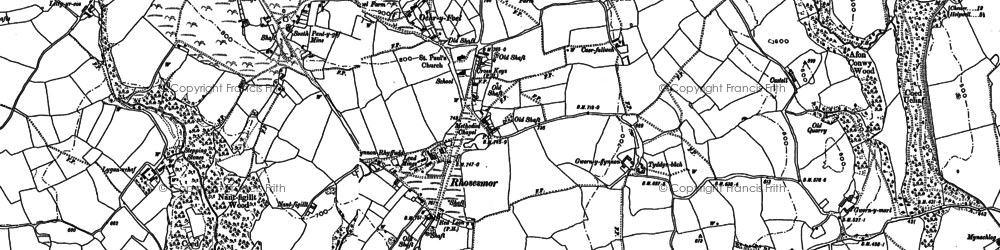 Old map of Rhosesmor in 1898