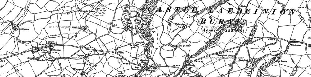 Old map of Y Byrwydd in 1884