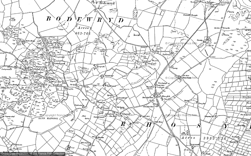 Old Map of Historic Map covering Afon Wygyr in 1887