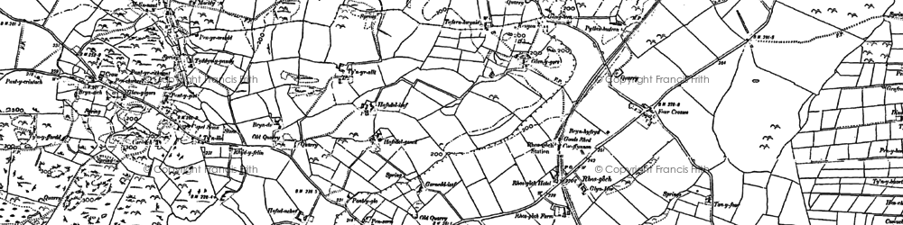 Old map of Yr-ynys in 1887