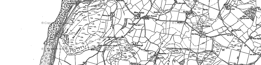 Old map of Bwlch in 1900