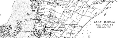 Old map of Afon Crigyll centred on your home