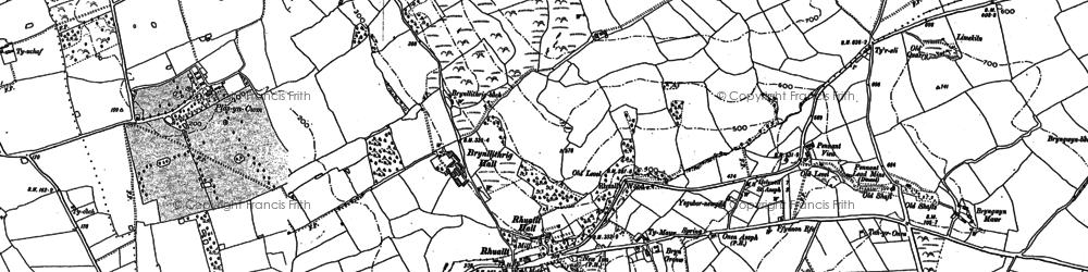 Old map of Rhuallt in 1898