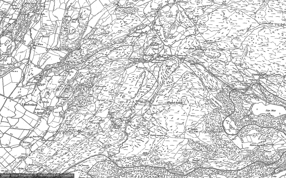Old Map of Rhyd, 1899 in 1899