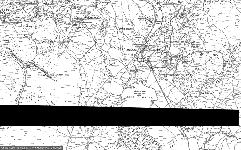 Old Map of Historic Map covering Afon Colwyn in 1887