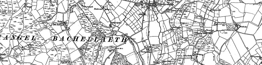 Old map of Tyn Lôn in 1888