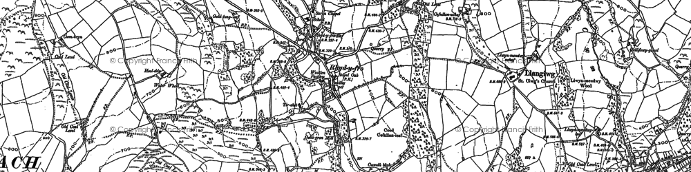 Old map of Rhyd-y-fro in 1897