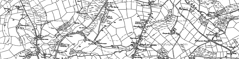 Old map of Beili glas in 1886