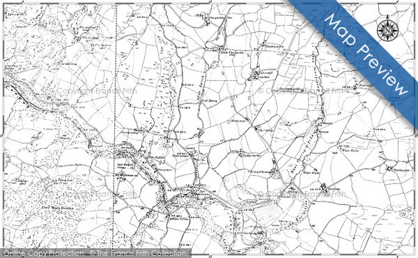Historic map of Afon Gwrysgog