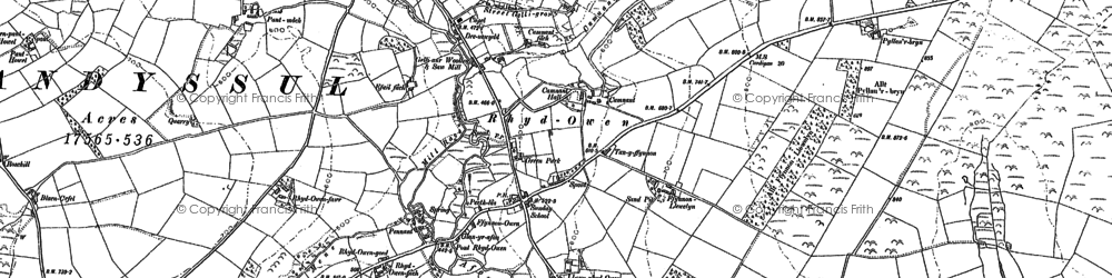 Old map of Alltyrodyn in 1888