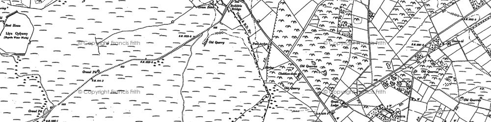 Old map of Rhydtalog in 1910
