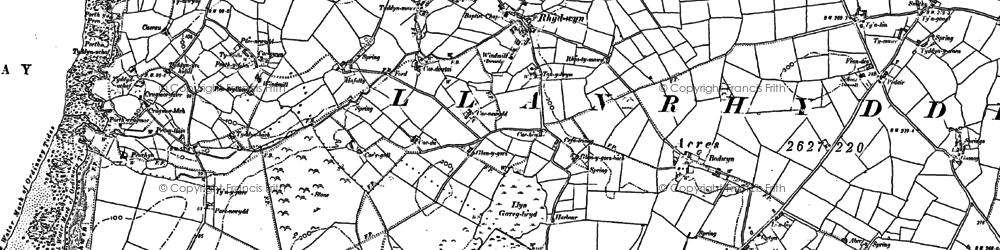 Old map of Rhydwyn in 1886