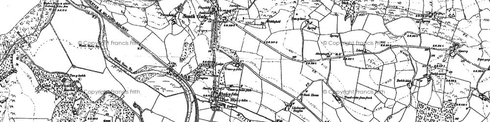 Old map of Rhydyfelin in 1904
