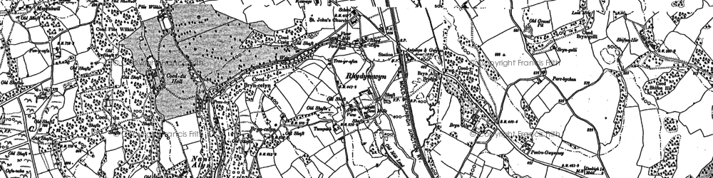 Old map of Rhydymwyn in 1898