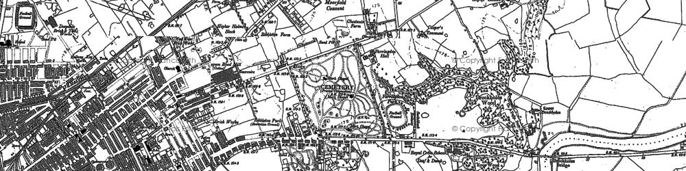 Old map of Ribbleton in 1892
