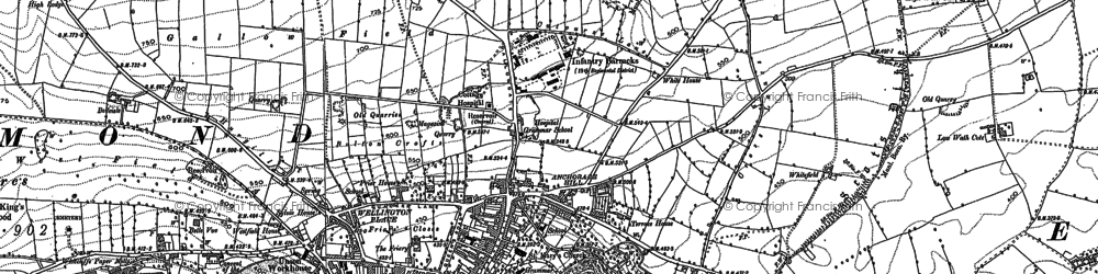 Old map of Richmond in 1892