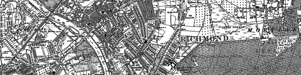 Old map of Richmond in 1893