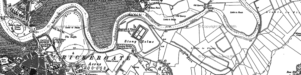 Old map of Whiteclosegate in 1888