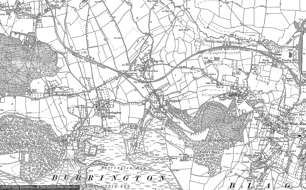 Old Map of Historic Map covering Link in 1883