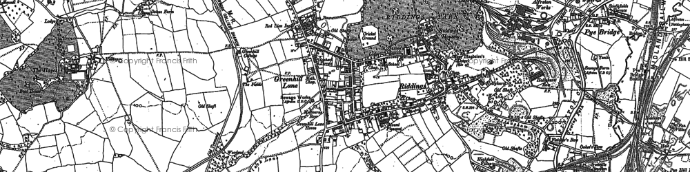 Old map of Riddings in 1880