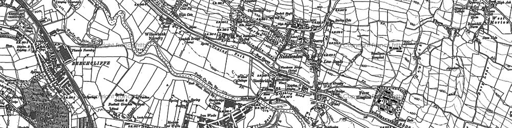 Old map of Leache's Br in 1891
