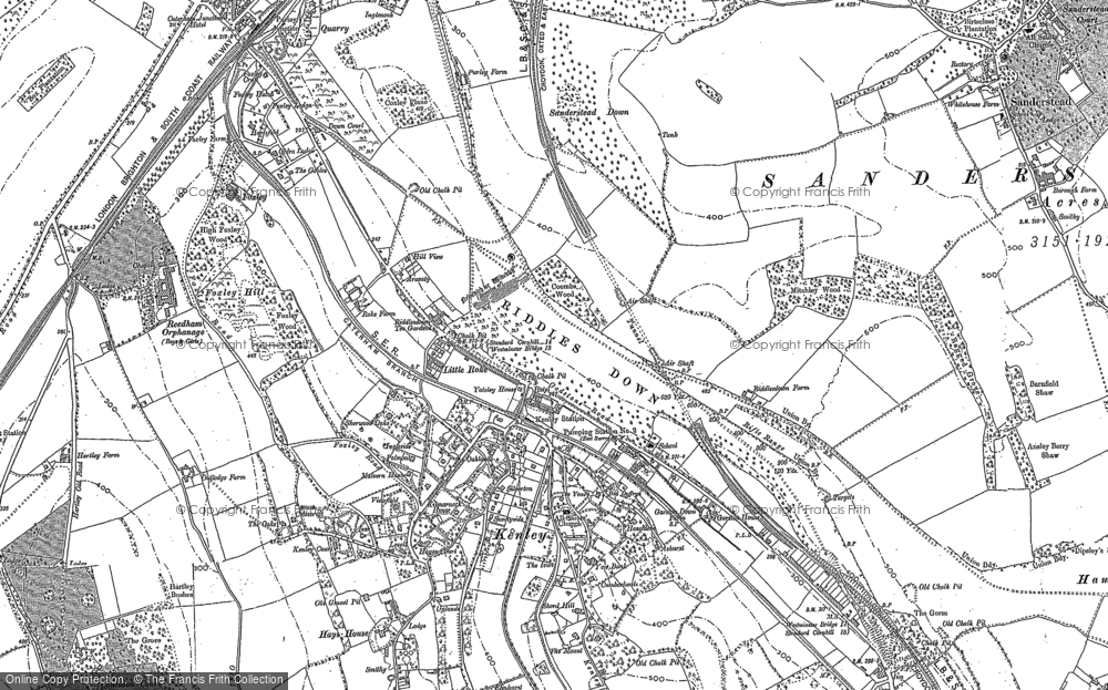 Old Maps Of Riddlesdown Francis Frith - Old os maps