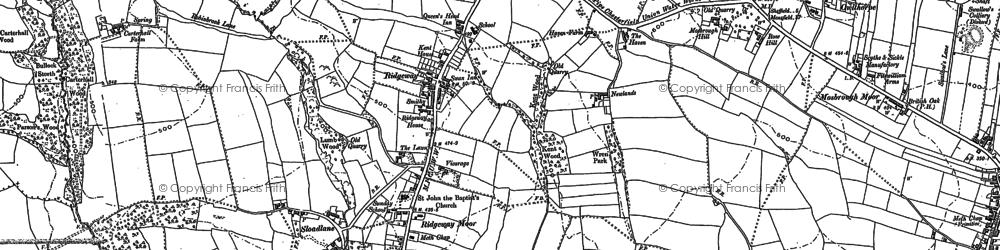 Old map of Ridgeway Moor in 1897