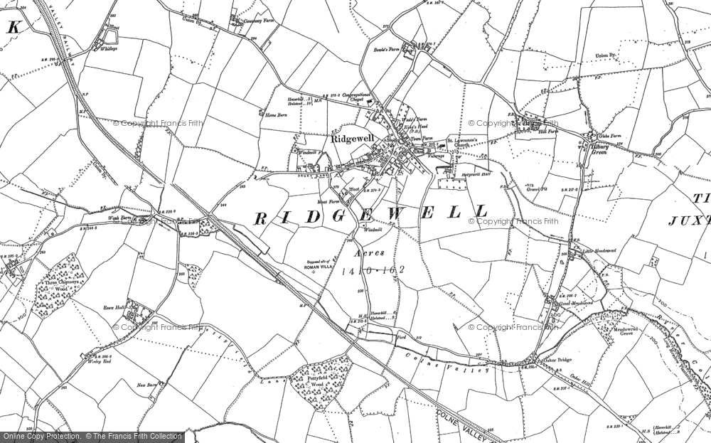 Old Map of Historic Map covering Tilbury Green in 1896