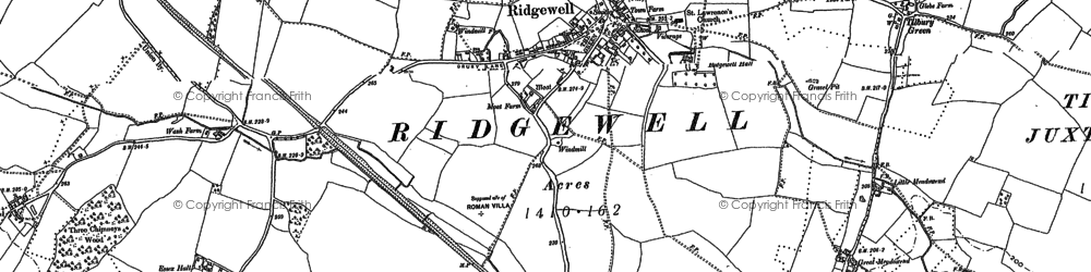 Old map of Tilbury Green in 1896