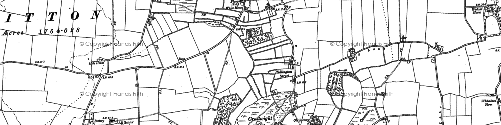 Old map of Witton Bridge in 1885