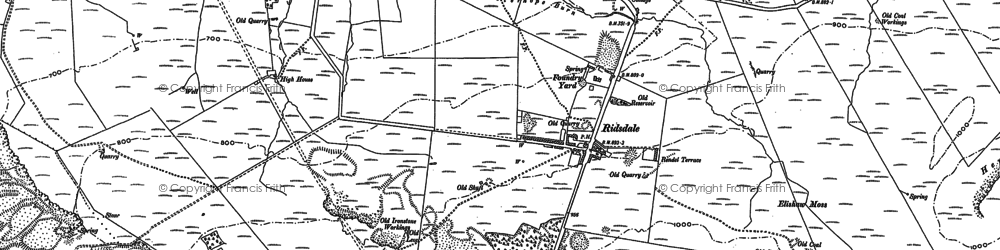 Old map of Aid Moss in 1895