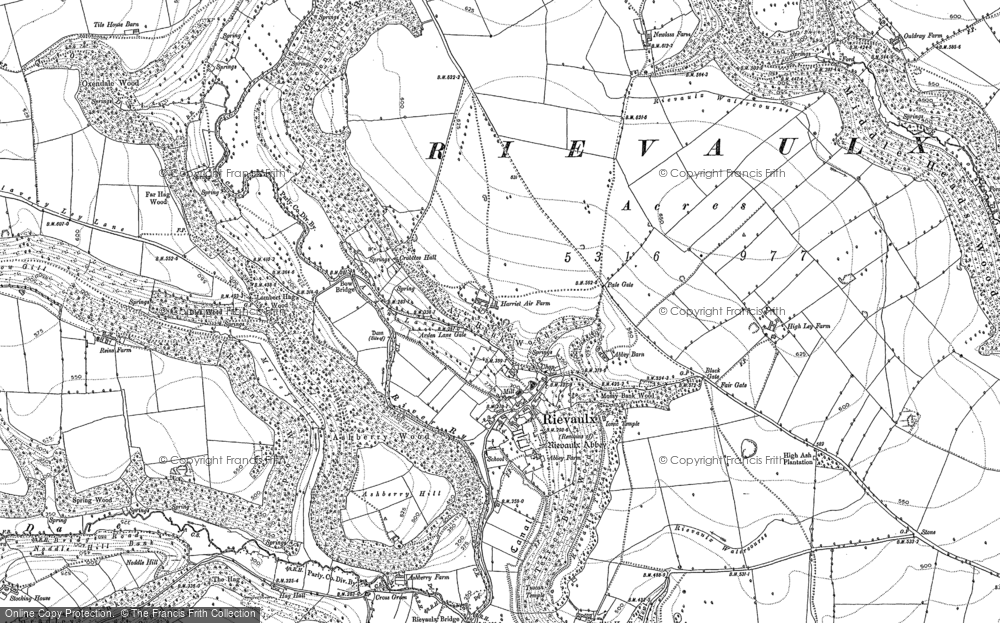 Old Map of Historic Map covering Ashberry Wood in 1891