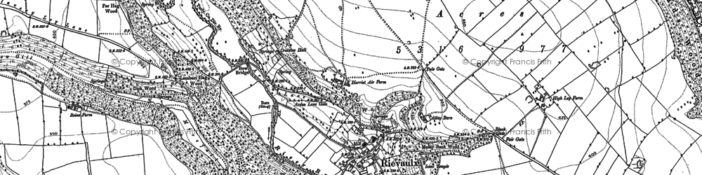 Old map of Ashberry Wood in 1891