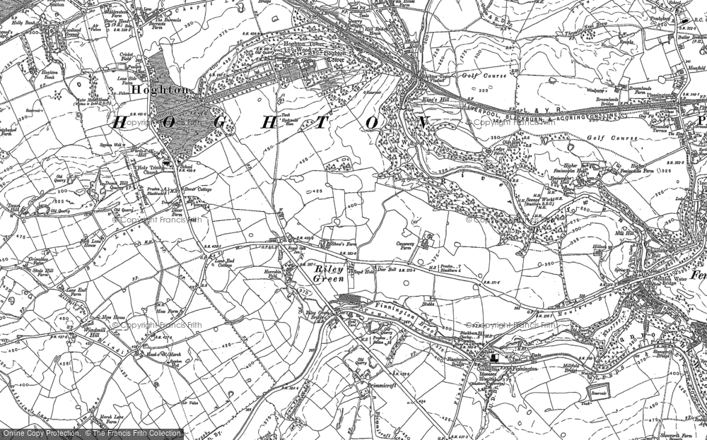 Old Map of Historic Map covering Leeds and Liverpool Canal in 1892