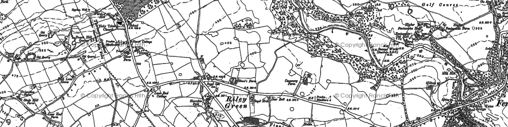 Old map of Leeds and Liverpool Canal in 1892