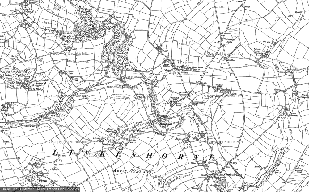 Old Map of Historic Map covering Addicroft in 1882