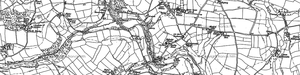 Old map of Rillaton in 1882