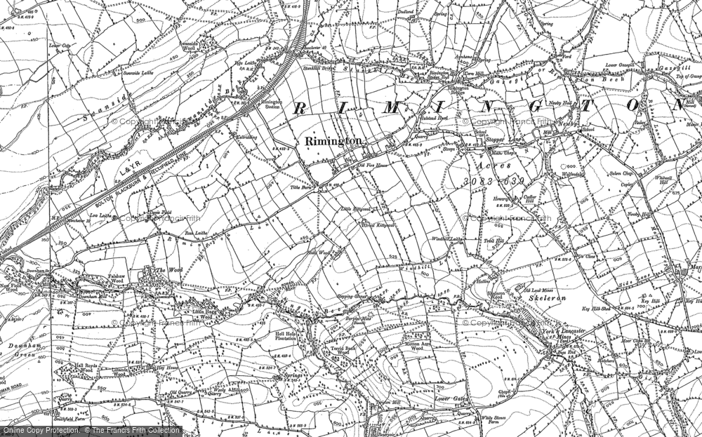 Old Map of Historic Map covering Wood, The in 1907