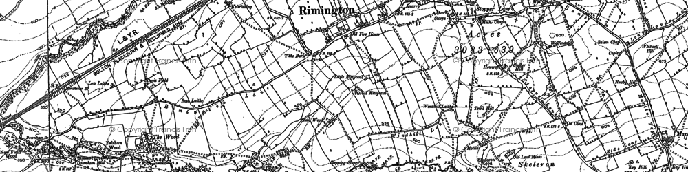 Old map of Rimington in 1907