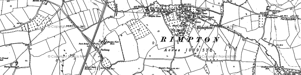 Old map of Woodhouse in 1885