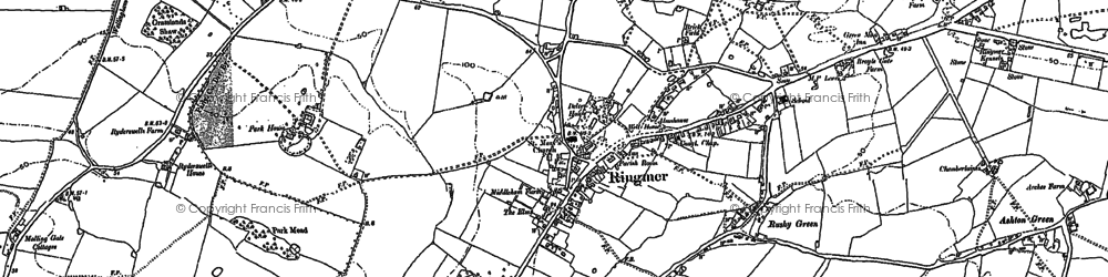 Old map of Ashton Green in 1897