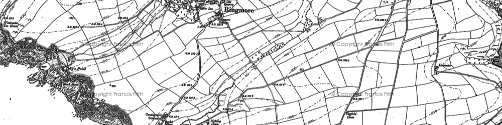 Old map of Westcombe Beach in 1905