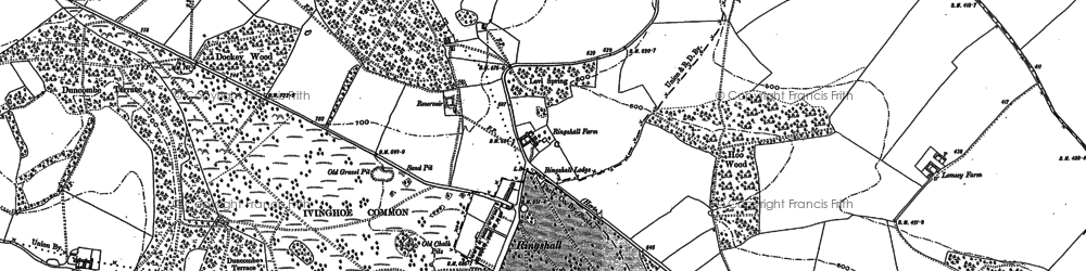 Old map of Barley End in 1897
